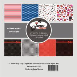 BY LENE – Paperpad – 15×15 cm – Rock'n'roll