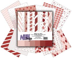 NHH – Paperpad – 15 x 15 cm – All in one – Red