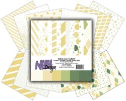 NHH – Paperpad – 15 x 15 cm – All in one – Yellow