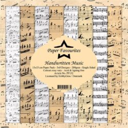 Paper Favourites – Paperpad – 15×15 cm – Handwritten Music