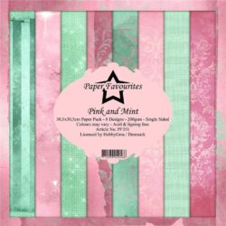 Paper Favourites – Paperpad – 30,5×30,5 cm – Pink and Mint