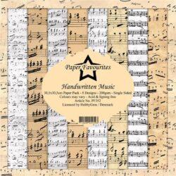 Paper Favourites – Paperpad – 30,5×30,5 cm – Handwritten Music
