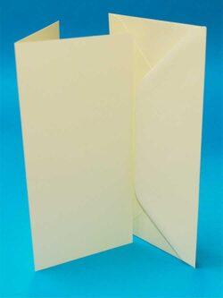 10 sæt Kort & Kuverter 9,8×21 Elfenben