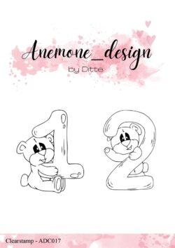 Anemone Design Stempel – Teddy Bear – 1 & 2