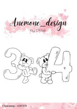 Anemone Design Stempel – Teddy Bear – Teddy Bear – 3 & 4