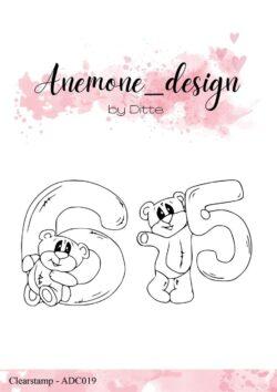 Anemone Design Stempel – Teddy Bear – 5 & 6