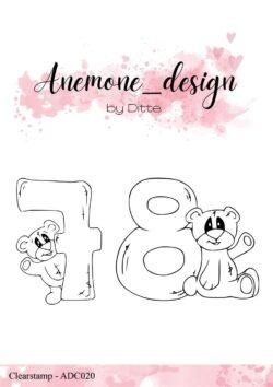 Anemone Design Stempel – Teddy Bear – 7 & 8