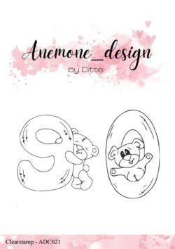 Anemone Design Stempel – Teddy Bear – 9 & 0