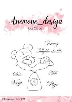 Anemone Design Stempel – Teddy Bear