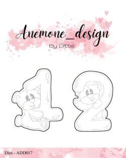 Anemone Design Die – Teddy Bear – 1 & 2