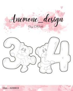 Anemone Design Die – Teddy Bear – 3 & 4