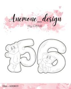 Anemone Design Die – Teddy Bear – 5 & 6