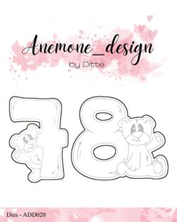 Anemone Design Die – Teddy Bear – 7 & 8