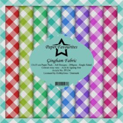 Paper Favourites – Paperpad – 15×15 cm – Gingham Fabric