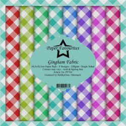 Paper Favourites – Paperpad – 30,5×30,5 cm – Gingham Fabric