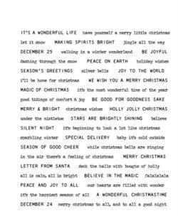Tim Holtz Stempel – Tiny Text Christmas