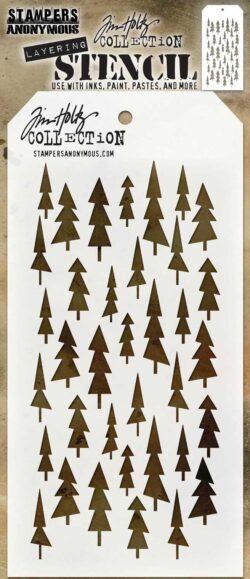 Tim Holtz Layerd Stencil – Tree Lot