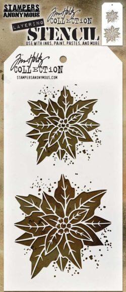 Tim Holtz Layerd Stencil – Poinsettia duo