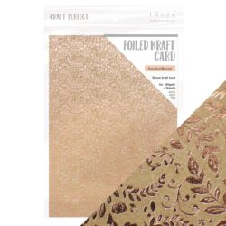 Craft Perfect – Karton med folie – Rose gold blossom
