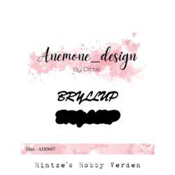Anemone Design Die – Bryllup
