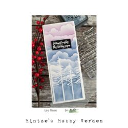 Picket Fence Studios Slim Line Cloud Coverage 4×10 Inch Stencil
