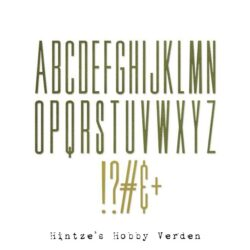 Sizzix/Tim Holtz Die – Alphanumeric Stretch Upper