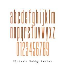Sizzix/Tim Holtz Die – Alphanumeric Stretch Lower & Numbers