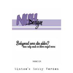 NHH Design Stempel – Bekymret over din alder