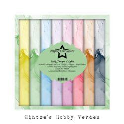 Paper Favourites – Paperpad – 30,5×30,5 cm – Ink Drops Light