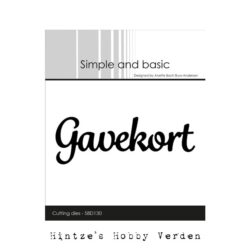 Simple and Basic Die – Gavekort