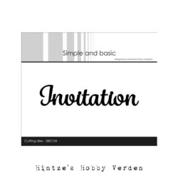 Simple and Basic Die – Invitation