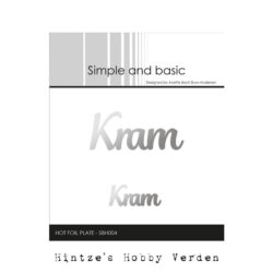 Simple and Basic Hot Foil Plate – Kram
