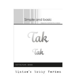 Simple and Basic Hot Foil Plate – Tak