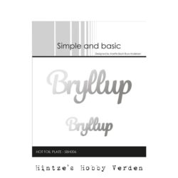 Simple and Basic Hot Foil Plate – Bryllup