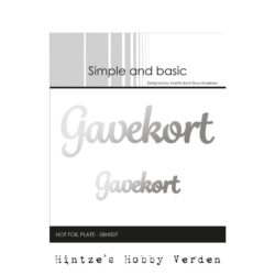 Simple and Basic Hot Foil Plate – Gavekort