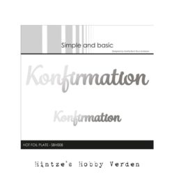 Simple and Basic Hot Foil Plate – Konfirmation