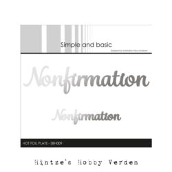 Simple and Basic Hot Foil Plate – Nonfirmation