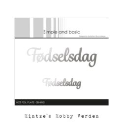 Simple and Basic Hot Foil Plate – Fødselsdag