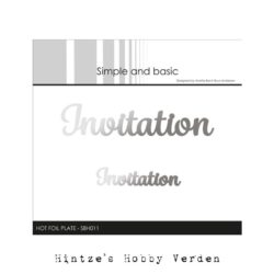 Simple and Basic Hot Foil Plate – Invitation