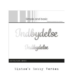 Simple and Basic Hot Foil Plate – Indbydelse