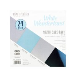 Craft Perfect – Paperpad – 15,24 x 15,24 cm – White Wonderland (mixed card pack)