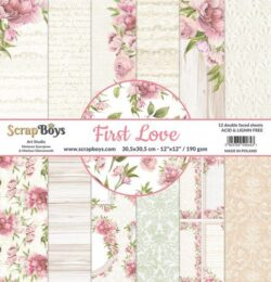 ScrapBoys – Paperpad – 30,5×30,5cm – First Love