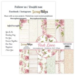 ScrapBoys – Paperpad – 20,3×20,3cm – First Love