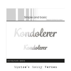 Simple and Basic Hot Foil Plate – Kondolerer