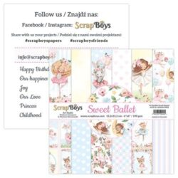 ScrapBoys – Paperpad – 15,2×15,2cm – Sweet Ballet