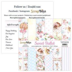 ScrapBoys – Paperpad – 20,3×20,3cm – Sweet Ballet