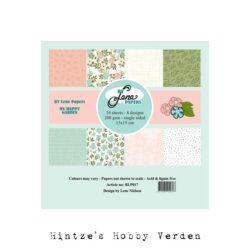 BY LENE – Paperpad – 15×15 cm – My Happy Garden