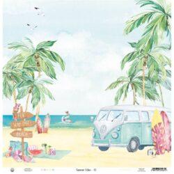 Piatek13 – Scrapark – 30,5 x 30,5 cm – Paper Summer vibes 01