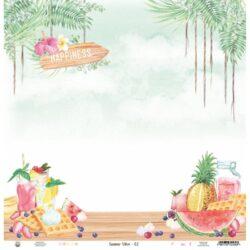 Piatek13 – Scrapark – 30,5 x 30,5 cm – Paper Summer vibes 02