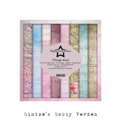 Paper Favourites – Paperpad – 15×15 cm – Vintage music
